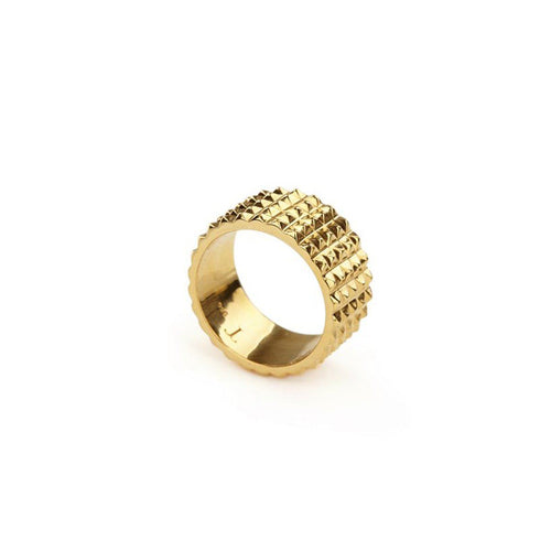 Ring - PURE PYRAMID RING </br> 18ct Yellow Gold Vermeil