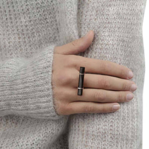 Ring - URBAN BAR RING </br> Black Onyx