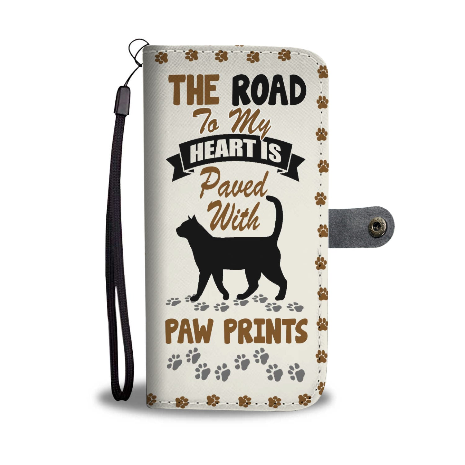 Paved With Paw Prints Wallet Case