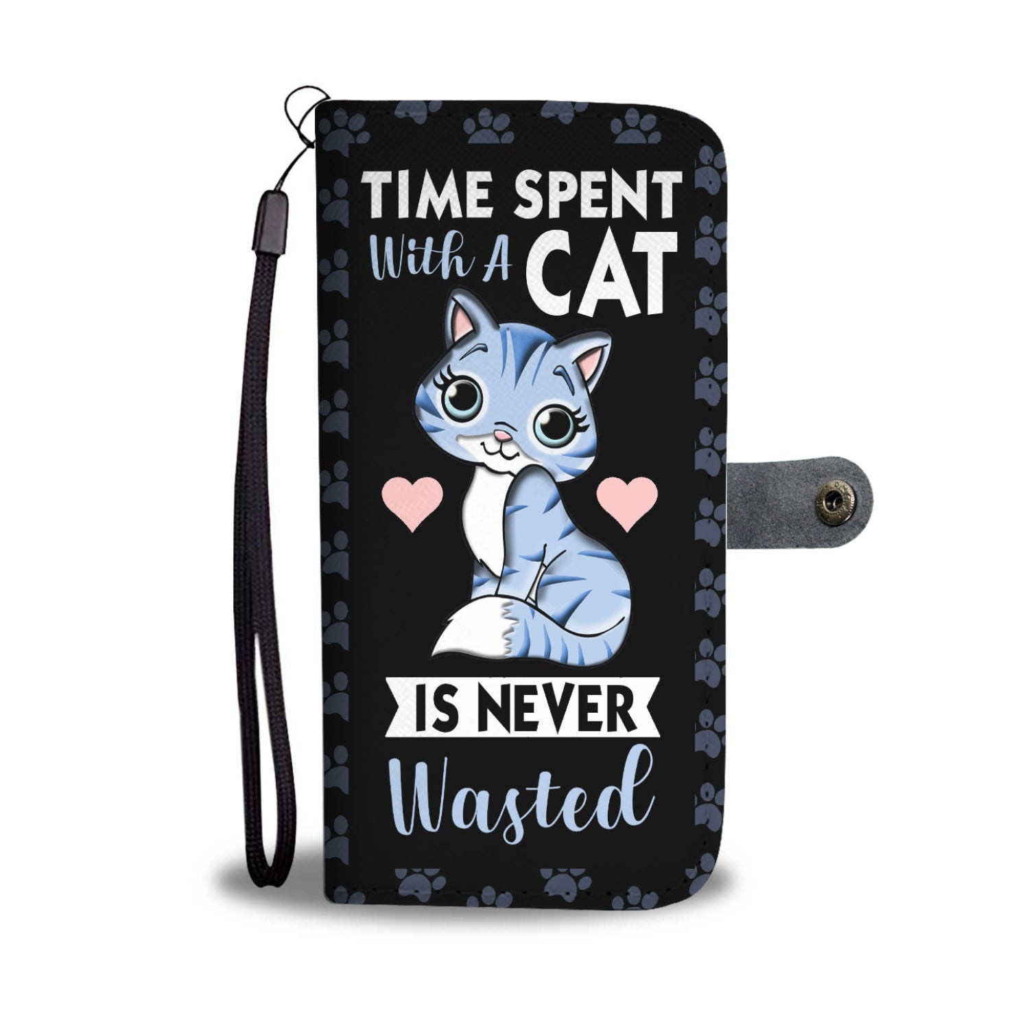 Time Spent With Cat Wallet Case