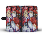 Retro Kitty Wallet Case