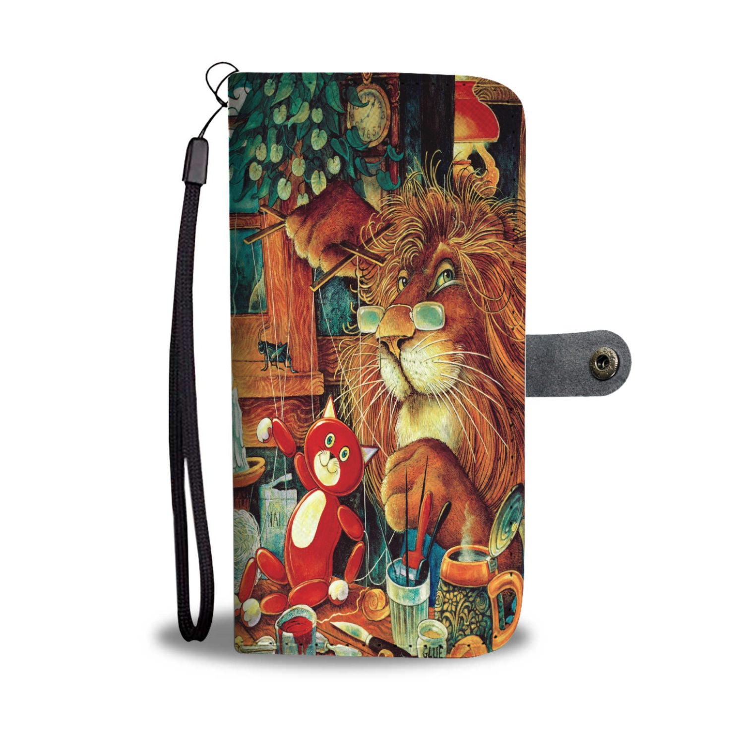Kitty Puppeteer Wallet Case