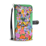 PitBull Flowery Wallet Case
