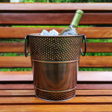 brekx copper wine bucket hammered outdoors patio