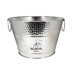 Hillcrest Hammered Beverage Bucket in Stainless Steel