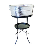 Aspen Hammered Beverage Tub in Stainless Steel with Stand
