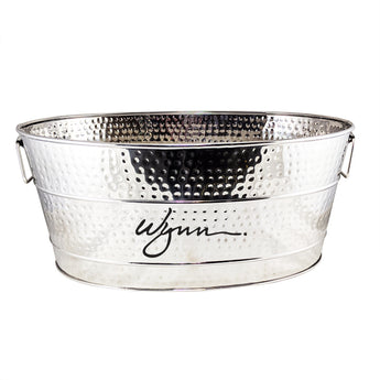 🆕 Aspen Hammered Beverage Tub in Stainless Steel