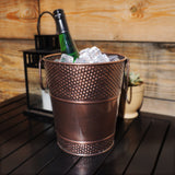 Berkshire Pebbled Wine Bucket in Antique Copper