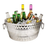 Anchored Big Bolt Double Walled Beverage Tub in Steel Silver