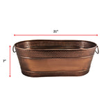Colt Hammered Oval Bucket in Antique Copper Finish