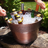 Hillcrest Pebbled Beverage Bucket in Antique Copper