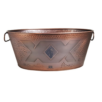 Custom Antique Copper Finish Hammered Beverage Tub