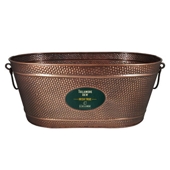 Creighton Pebbled Beverage Tub in Antique Copper
