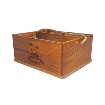 Rope Pine Condiment Box