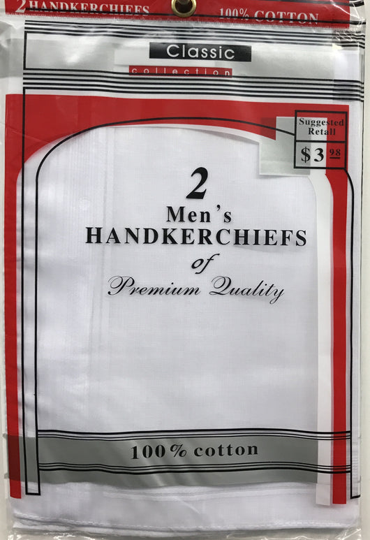 2 Pack Men's Handkerchiefs
