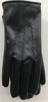 Boy's Vinyl Fur Lined Glove