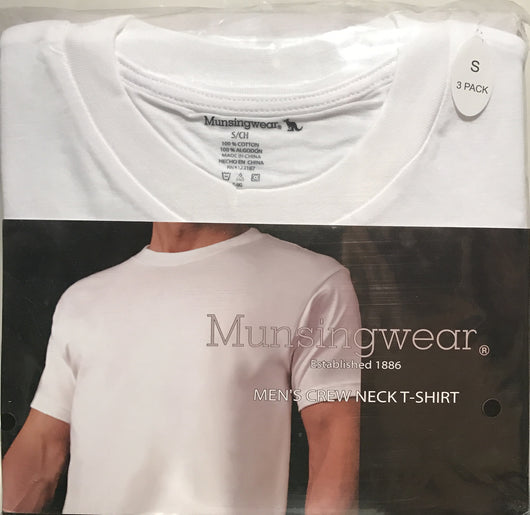Munsingwear Men's Crew Neck T-Shirt 2/3 Pack