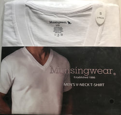Munsingwear Men's V-Neck T-Shirt 2/3 Pack