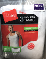 Hanes Tagless Tanks 3 Pack