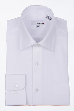 Modena White Short Sleeve Dress Shirt Big Man