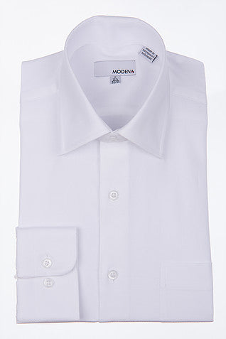 Modena White Long Sleeve Dress Shirt Big Man