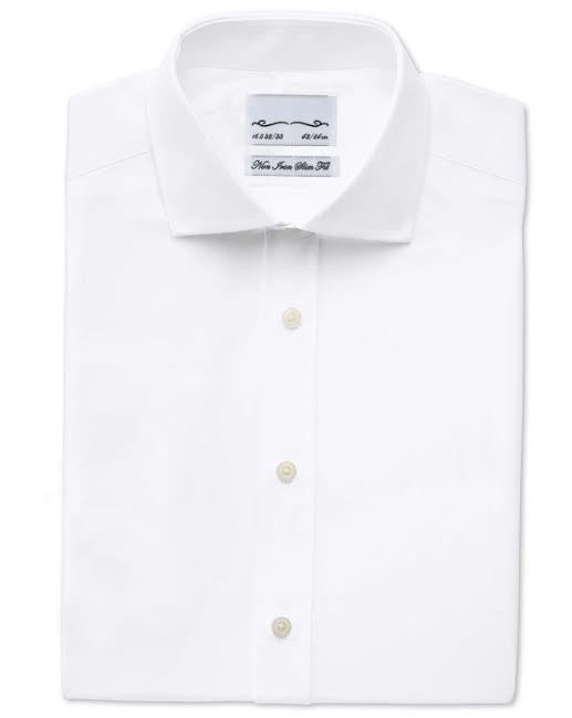 Mark Fred Classic Fit 100% Cotton Non-Iron White Dress Shirt