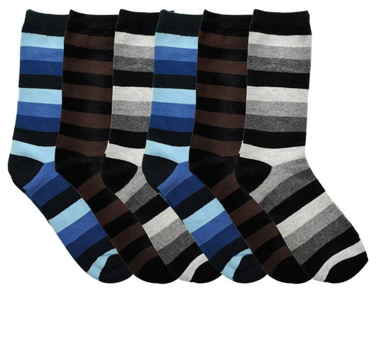 SWAN Cotton Striped Dress Socks