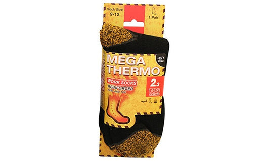 Men's Work Socks Mega Thermo Reinforced Heel & Toe