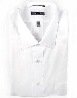 Izod White Long Sleeve Dress Shirt