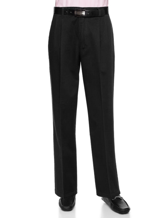 AKA 100% Cotton Pleat-Front Pants Big and Tall