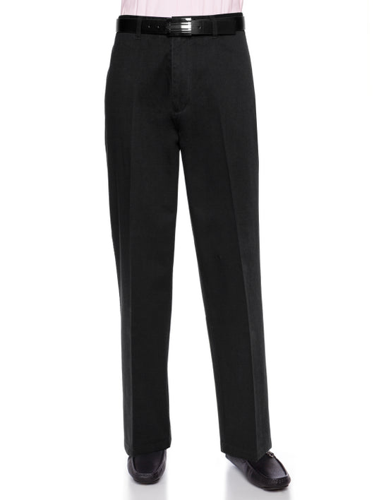 AKA 100% Cotton Flat-Front Pants Big and Tall
