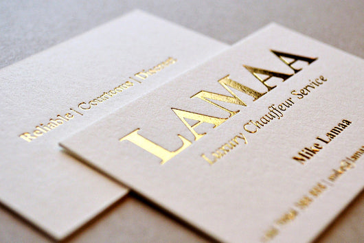 Foil stamping business cards earnest print foil stamping business cards earnest print reheart Image collections