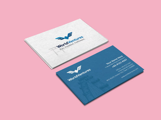 World Venture Business Cards Earnest Print