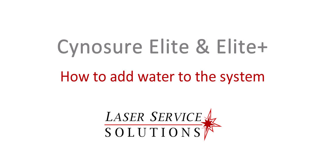 How to Add Water to an Elite or Elite+ Laser