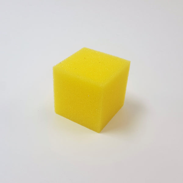 Foam Cube - Small Yellow