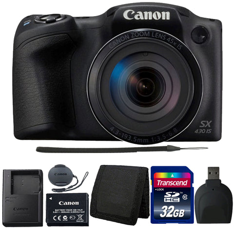 Canon PowerShot SX430 IS Digital Camera with Accessory Kit