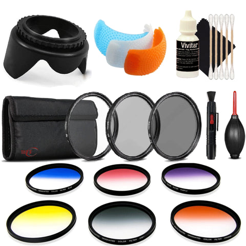 58mm Color Filter Kit with Accessory Kit for Canon EOS Rebel T6 and T7i