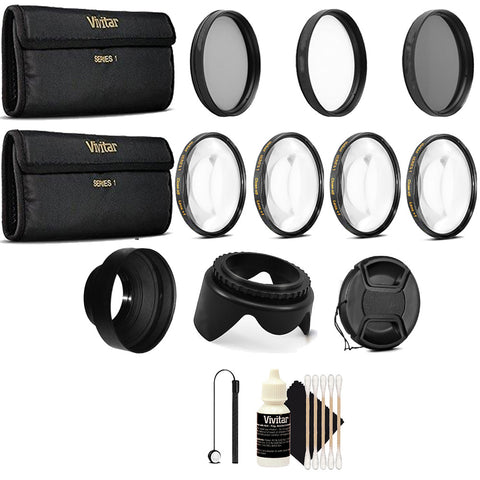 52mm Close Up Macro Filters with Accessory Kit for Nikon D5300, D5500, D7100 and D7200