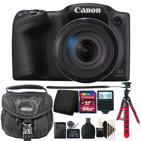 Canon PowerShot SX420 IS HD Wi-Fi 20MP Digital Camera with Accessories