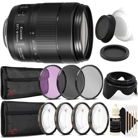 Canon EF-S 18-135mm f/3.5-5.6 IS NANO USM Lens with Accessory Bundle For Canon T5 , T5i , T6 , T6i and T6s