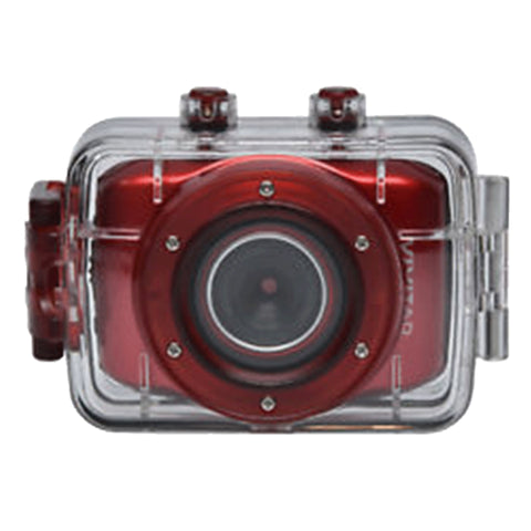 Vivitar DVR783HD 720P Waterproof Action Sports Video Camera Camcorder Red