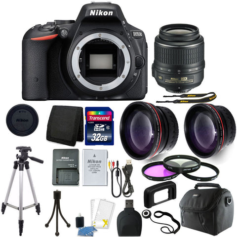 Nikon D5500 Digital SLR Camera with 18-55mm Lens and 10 Piece Accessory Kit