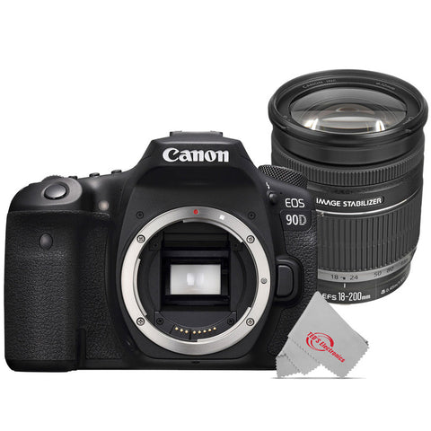 Canon 90D 32.5MP Built-in Wi-Fi DSLR Camera + Canon EF-S 18-200mm f/3.5-5.6 IS Lens