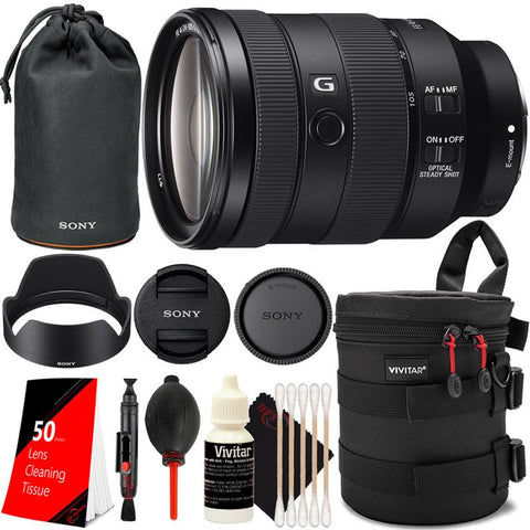 Sony FE 24-105mm f/4 G OSS Standard Zoom Lens SEL24105G with Top Cleaning Accessory Kit