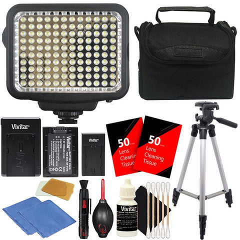 Vivitar LED Light with Accessory Kit for Cameras and Camcorders