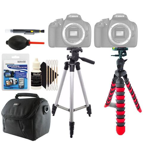 Tall and Flexible Tripod with Accessory Kit for Canon Cameras