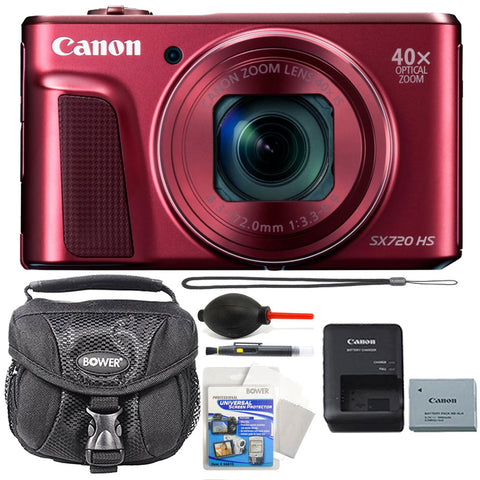 Canon PowerShot SX720 HS 20.3MP Digital Camera 40x Optical Zoom Red with Accessory Kit
