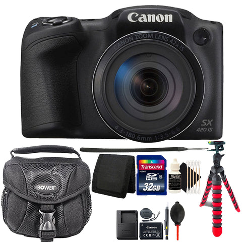 Canon PowerShot SX420 IS 20MP Digital Camera 42x Optical Zoom with Accessory Bundle