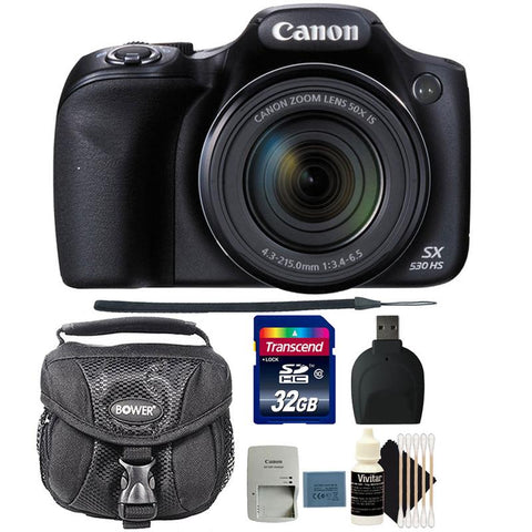 Canon PowerShot SX530 HS Digital Camera with Accessory Bundle