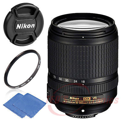 Nikon 18-140mm f/3.5-5.6G ED VR AF-S DX NIKKOR Zoom Lens for Nikon SLR Camera